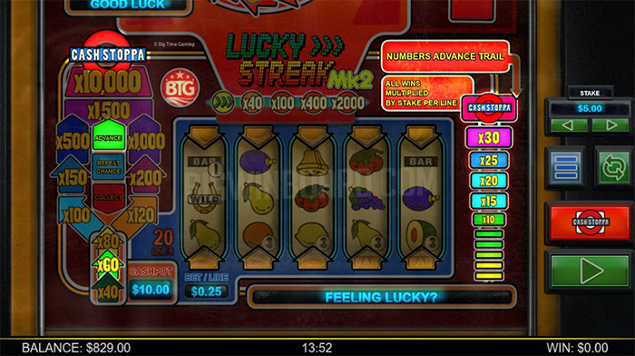 รีวิวเกมสล็อต Lucky Streak Mk2